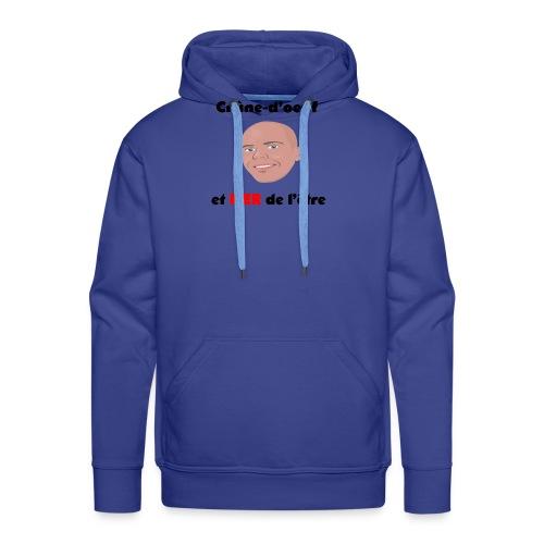 Chauve et fier - Sweat-shirt à capuche Premium pour hommes