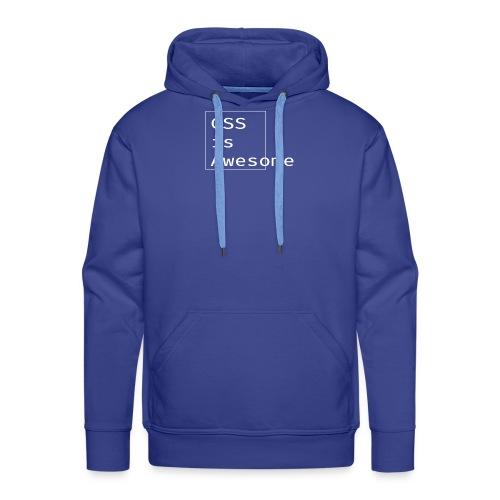cssawesome - white - Mannen Premium hoodie