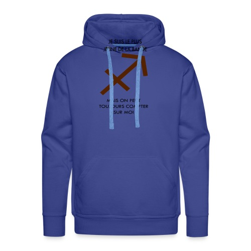 Sagittaire - je suis le plus jeune de la bande mai - Sweat-shirt à capuche Premium pour hommes
