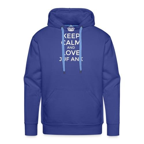Keep Calm And love Juf Ank - Mannen Premium hoodie