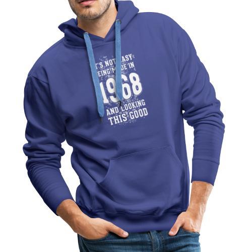 Origineel cadeau. Geboren in 1968. - Mannen Premium hoodie