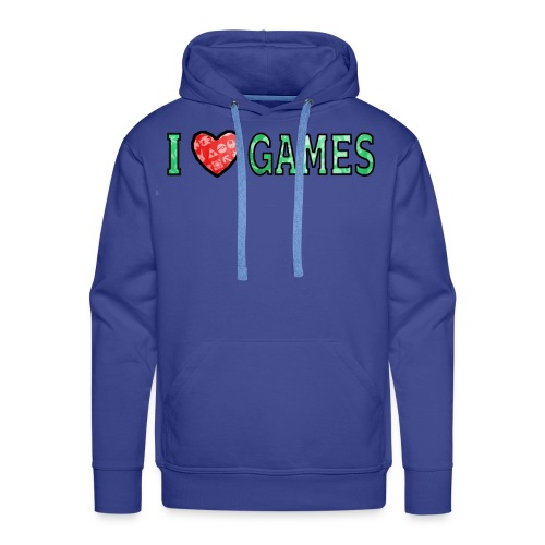 I Love Games - Bluza męska Premium z kapturem