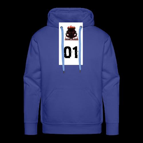 Boar blood 01 - Bluza męska Premium z kapturem