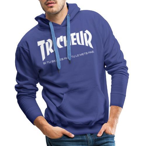 skateboard trasher tricheur - Sweat-shirt à capuche Premium pour hommes