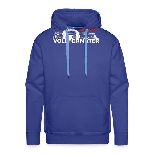 Pentaxians VOLLFORMATER white Logo - Männer Premium Hoodie
