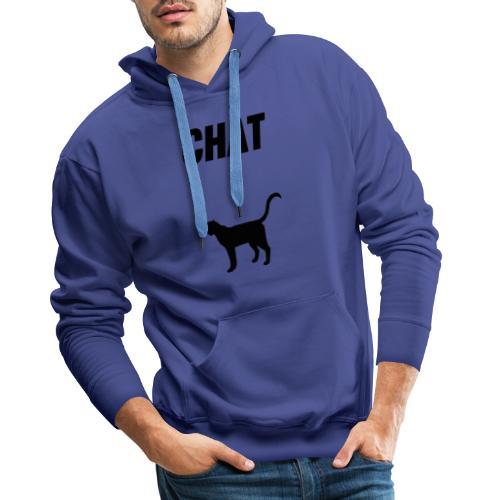 CHAT - SPMLY - Sweat-shirt à capuche Premium pour hommes