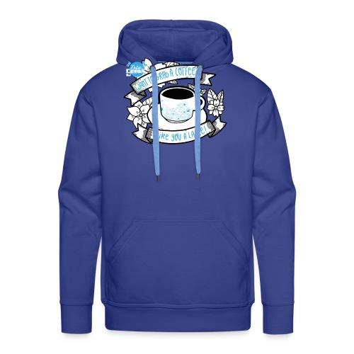 I Like You To Latte White - Mannen Premium hoodie