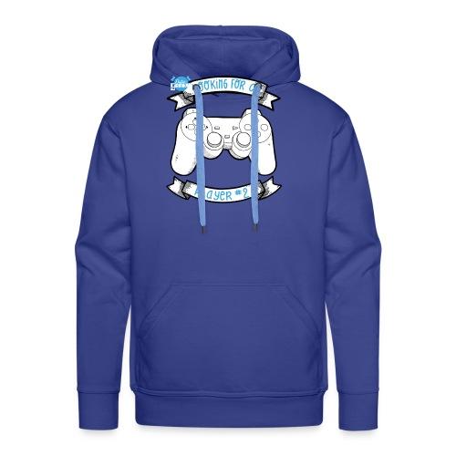 Op zoek naar speler # 2 White - Mannen Premium hoodie