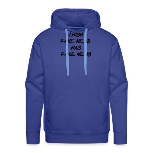 fake news black - Mannen Premium hoodie