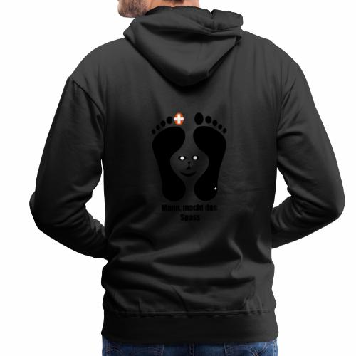 Barfuss-Logo das macht Spass mit Gesicht - Männer Premium Hoodie