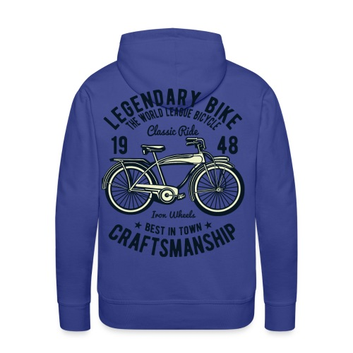 Tour classique Ligue Mondiale du Vélo Roues de Fer - Sweat-shirt à capuche Premium pour hommes