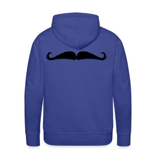 Moustache - Sweat-shirt à capuche Premium pour hommes