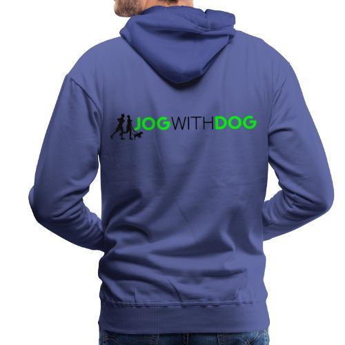Jog with Dog - Laufen Joggen mit Hund Hundesport - Männer Premium Hoodie
