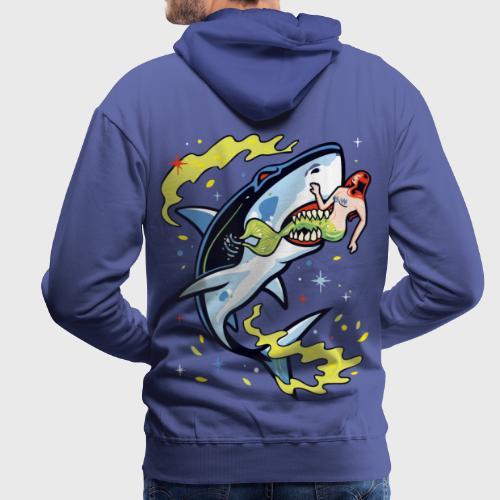 Requin mangeur de sirène - Sweat-shirt à capuche Premium pour hommes