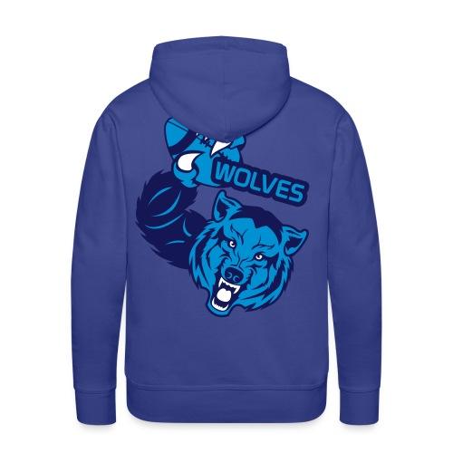 Wolves Rugby - Sweat-shirt à capuche Premium pour hommes