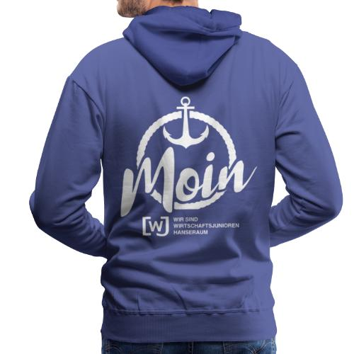 Moin Hanseraum weiß - Männer Premium Hoodie