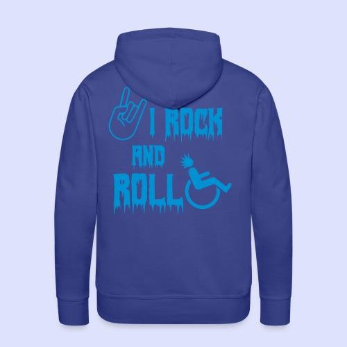 Ik rock en rol in mijn rolstoel - Mannen Premium hoodie