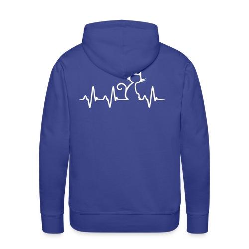 Vorschau: Cat Heartbeat - Männer Premium Hoodie
