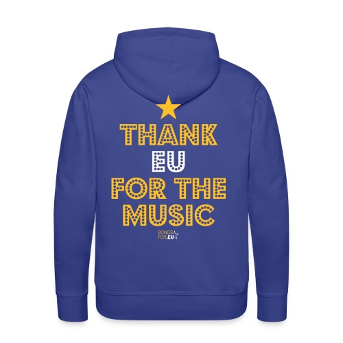 Thank you for the music | SongsFor.EU - Men's Premium Hoodie
