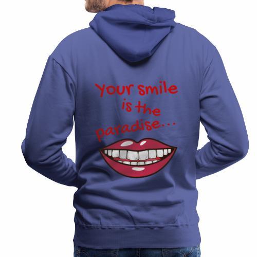 Smile lustige Sprüche shirt design - Männer Premium Hoodie