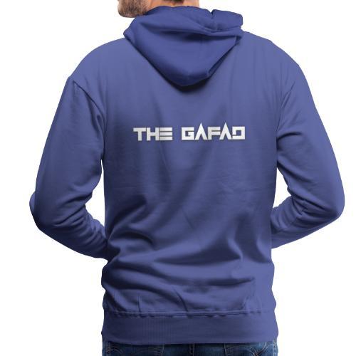 The Gafad - Official White Logo - Felpa con cappuccio premium da uomo