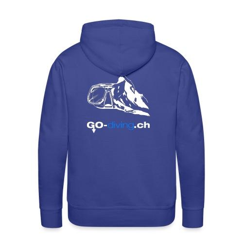 Go Diving - Sweat-shirt à capuche Premium pour hommes