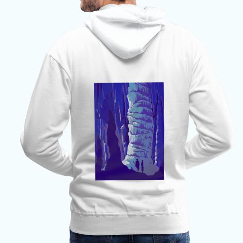 Fancy Grotto Vintage Travel Poster - Men's Premium Hoodie