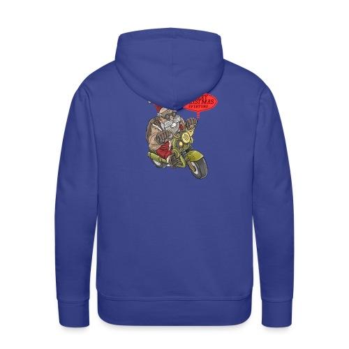 Santa Claus wishes you a Merry Christmas - Sweat-shirt à capuche Premium pour hommes