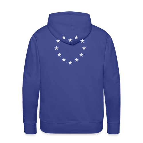 EU Flagge Herz hellgrau - Männer Premium Hoodie