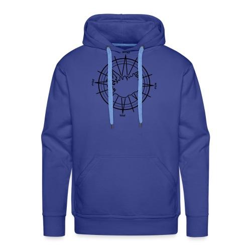 Island Kompass 0PD15 - Männer Premium Hoodie