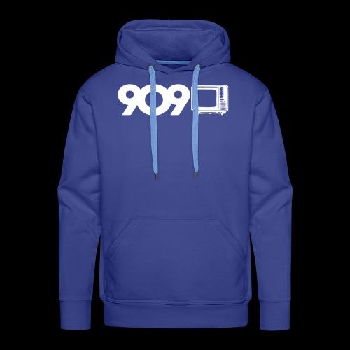 909tv - Felpa con cappuccio premium da uomo