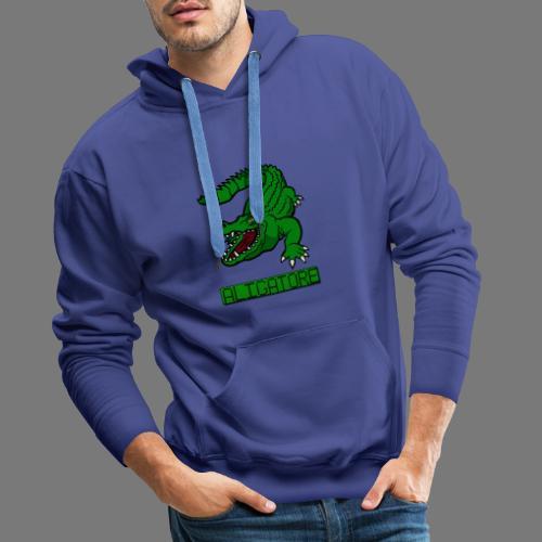 aligator - Bluza męska Premium z kapturem
