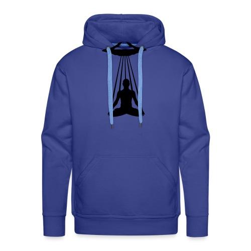 UFO MEDITATION - Sweat-shirt à capuche Premium pour hommes