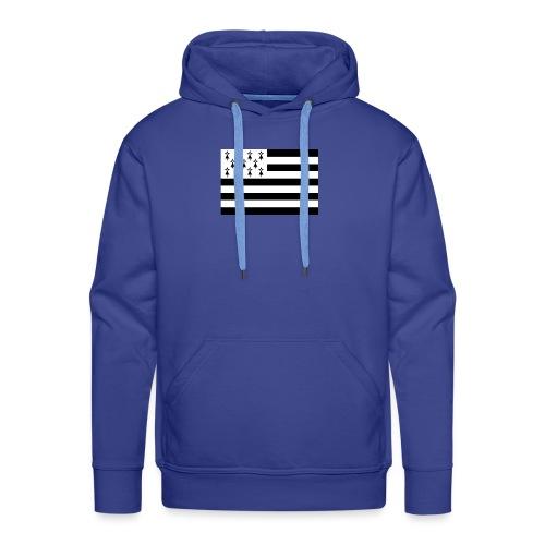 Drapeaux Bretagne - Sweat-shirt à capuche Premium pour hommes