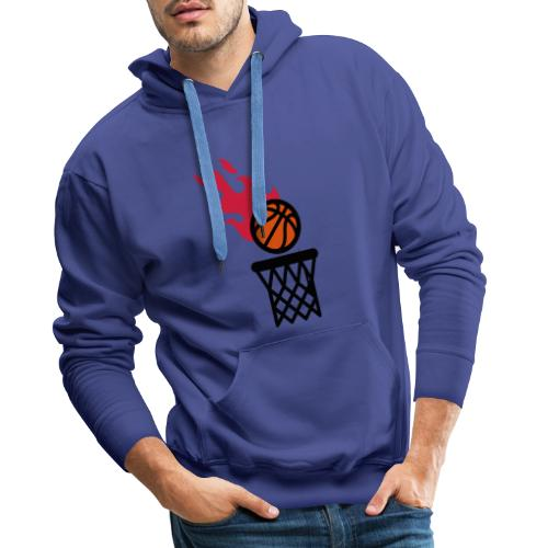 fire basketball - Men's Premium Hoodie