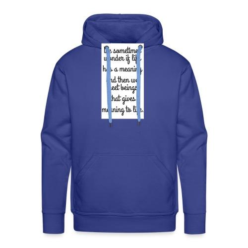 Phrase d'amour en anglais - Sweat-shirt à capuche Premium pour hommes