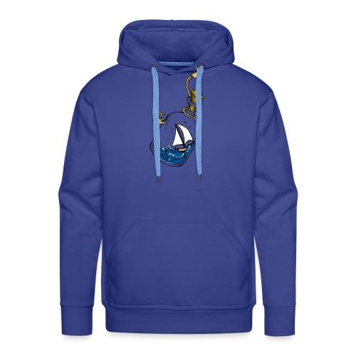 bouteille à la mer - Sweat-shirt à capuche Premium pour hommes