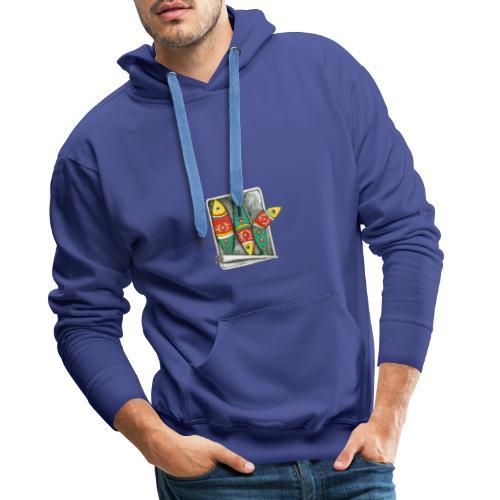 Les sardines du Portugal - Sweat-shirt à capuche Premium pour hommes
