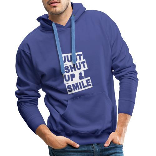 shut up 2 - Sweat-shirt à capuche Premium pour hommes