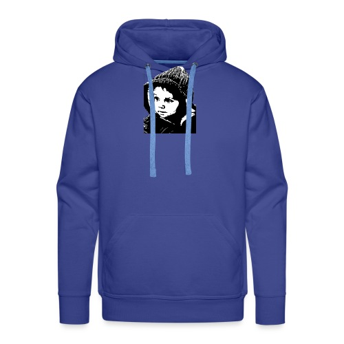 lolo capuche dessin n&b - Sweat-shirt à capuche Premium pour hommes
