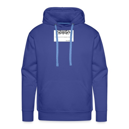 Socrates saying - Men's Premium Hoodie