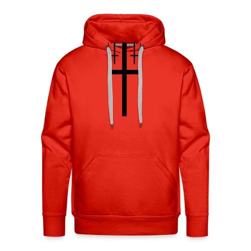 cross christus god jesus black - Men's Premium Hoodie