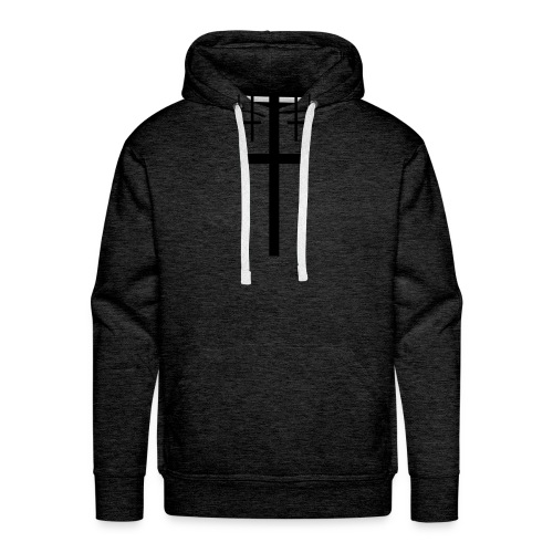 cross christus god jesus black - Men's Premium Hoodie