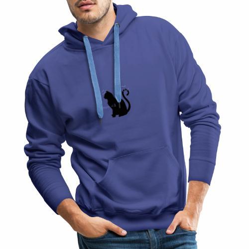 Mon Chat Mon <3 - Sweat-shirt à capuche Premium pour hommes