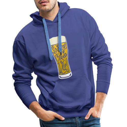bière, la bière c'est la vie! - Sweat-shirt à capuche Premium pour hommes