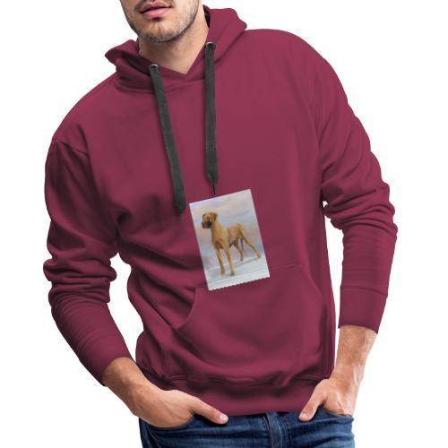 Great Dane Yellow - Herre Premium hættetrøje