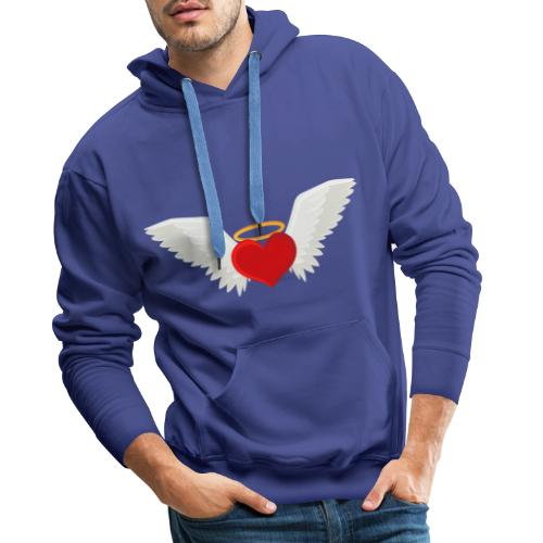 Winged heart - Angel wings - Guardian Angel - Men's Premium Hoodie