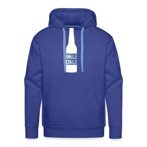 Inhale Exhale Craft Beer T Shirt - Men's Premium Hoodie