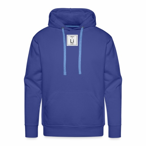 Lithium Periodic Table Image - Männer Premium Hoodie