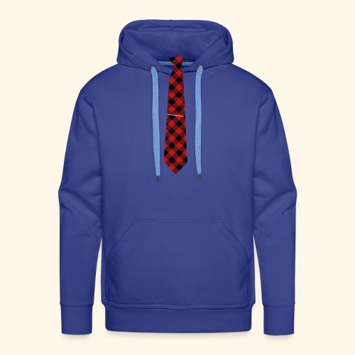 Krawatte 126 mit Goldnadel - Männer Premium Hoodie